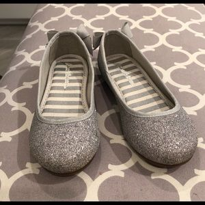EUC:  Hanna Andersson Glitter Flats with Bows